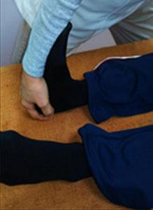ふくらはぎの筋肉の施術
