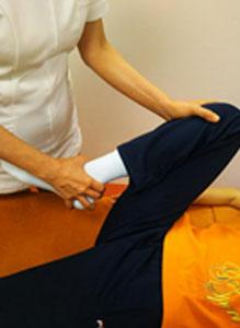 足関節の施術